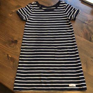 Girls Gap navy and white dress. Size 6-7